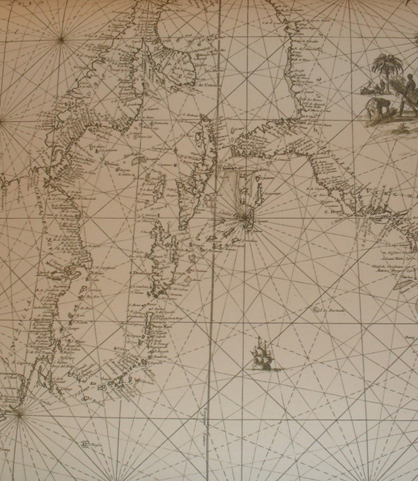 1684 Dutch chart of the West Indies