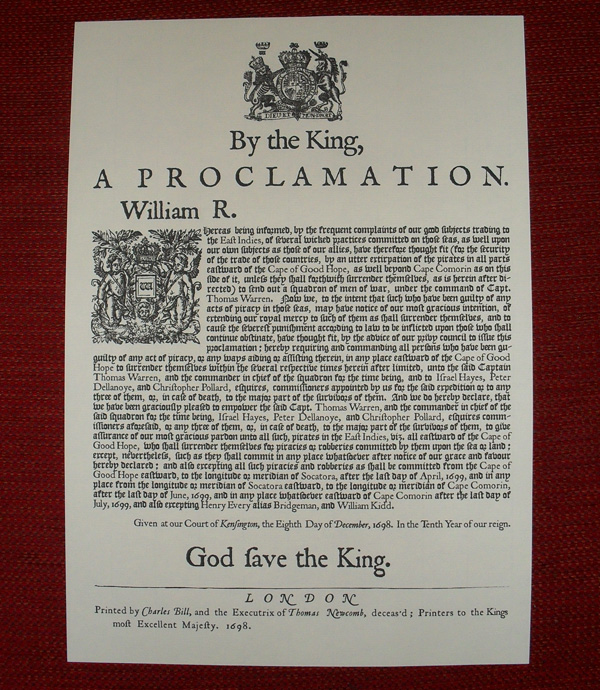 1698 Pardon Proclamation